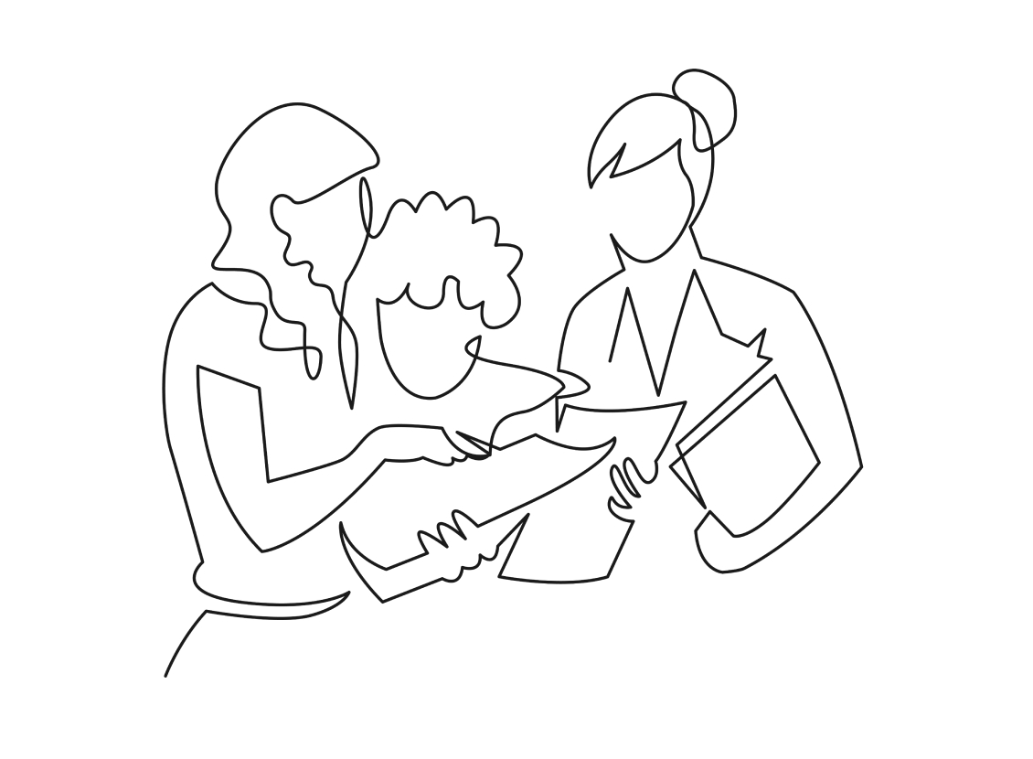 custom illustration for nonprofit website