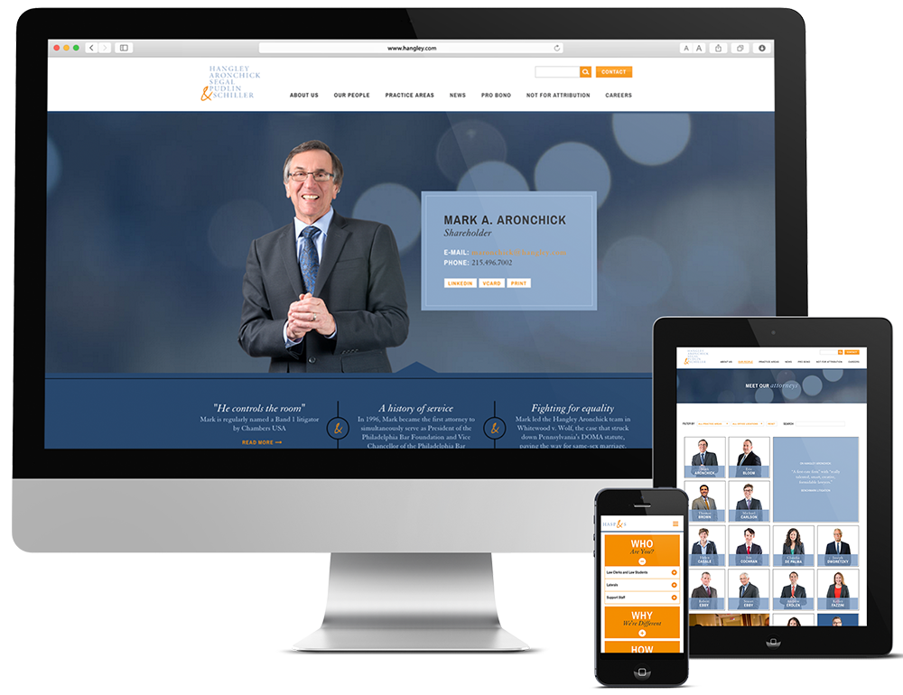 Law Firm Branding, Hangley, Hangley Legal, Hangley Philadelphia, Push10 Branding, Push10 Marketing, Push10 Web Design, web development, web design agency