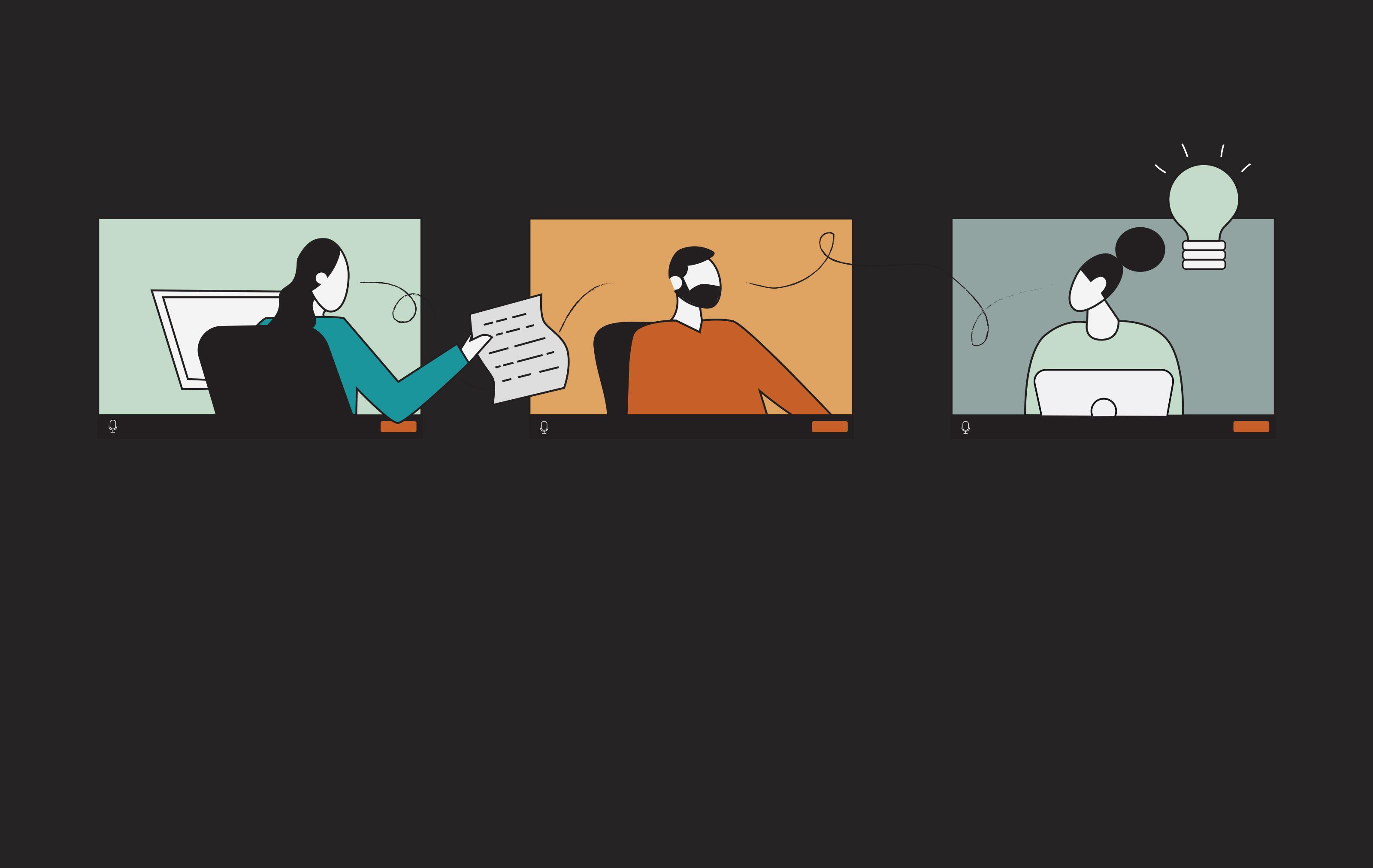 Custom Illustration of Remote Staff