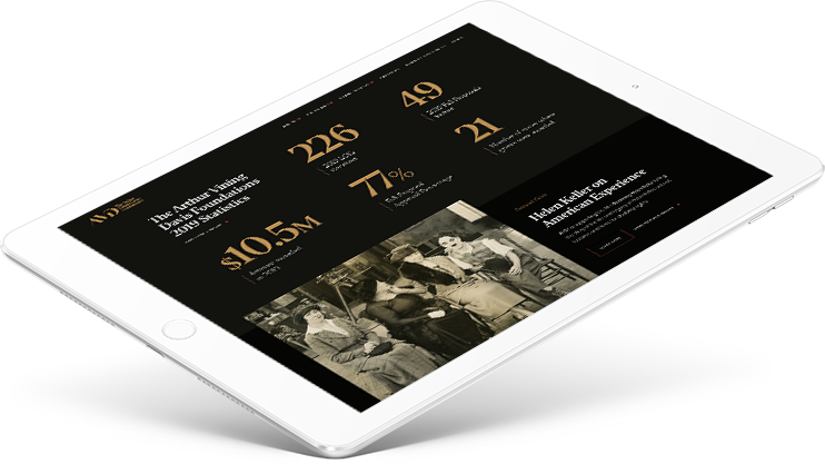 Responsive web design for The Arthur Vining Davis Foundations, a mission-driven philanthropic organization