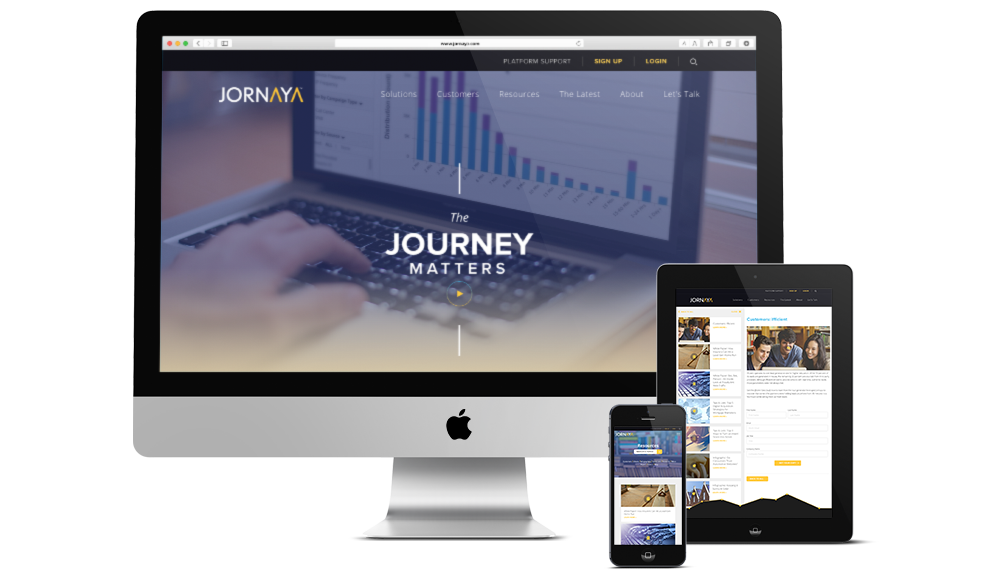 Responsive UX planning and website design for tech in Philadelphia, jornaya, push10, web design, responsive web design, mobile friendly web design