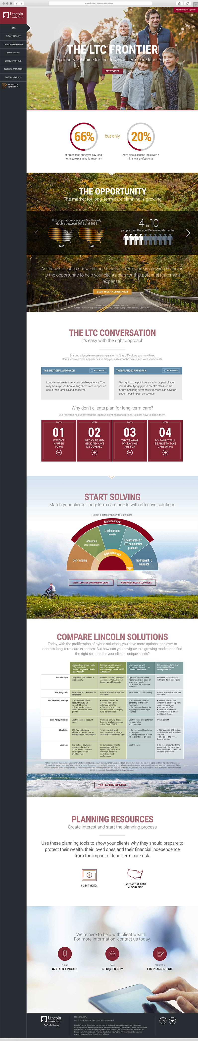 User interface design for Financial Firm in Philadelphia, lincoln financial group, lincoln financial, web design, push10