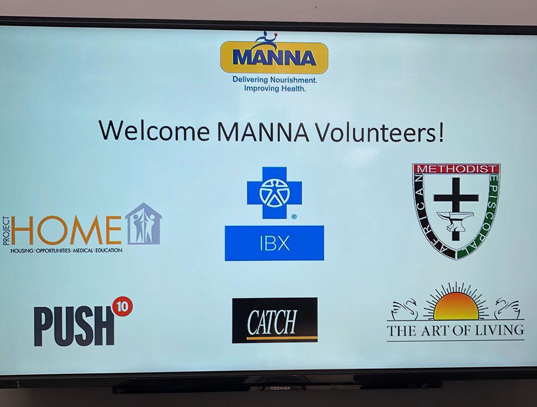 Local Philadelphia companies volunteering at MANNA nonprofit
