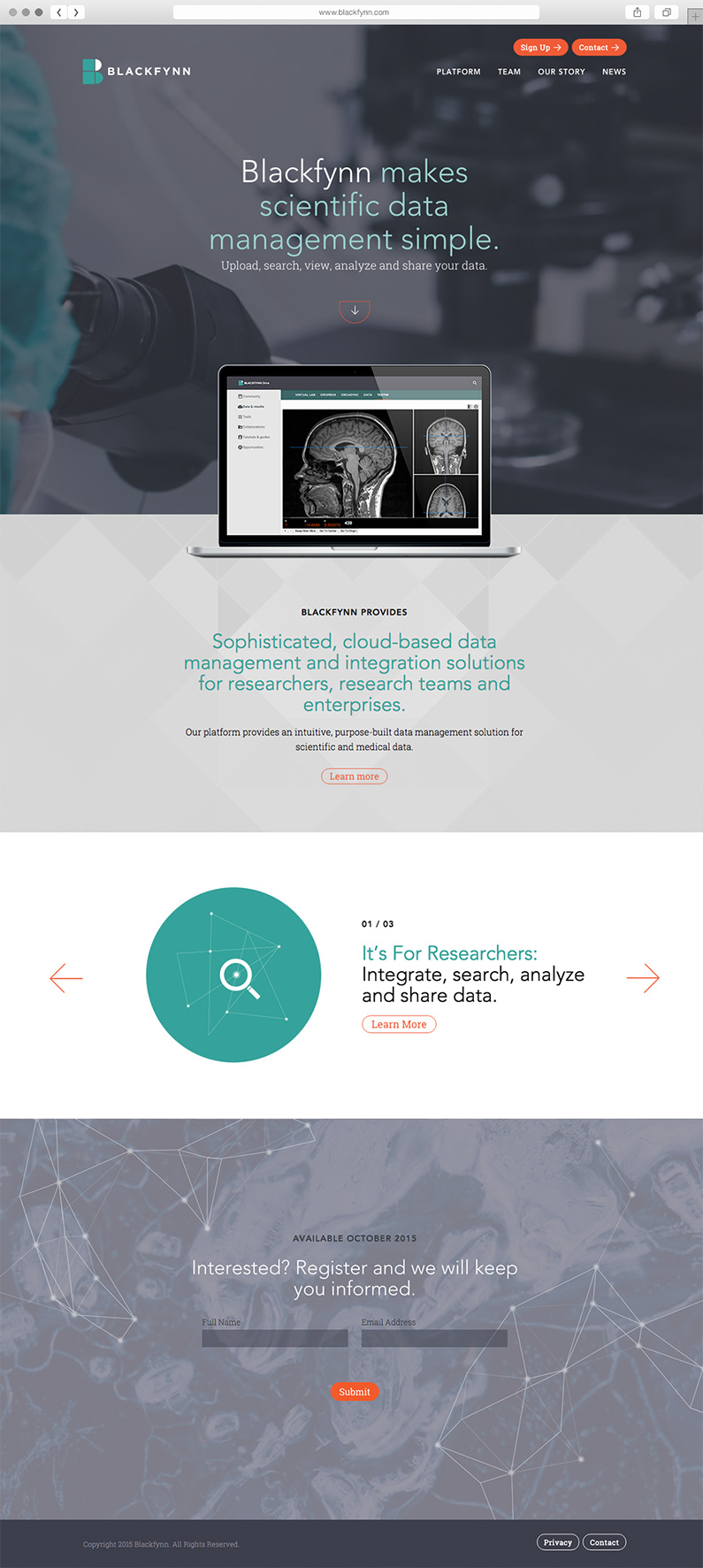 Custom website for medical research company by Push10