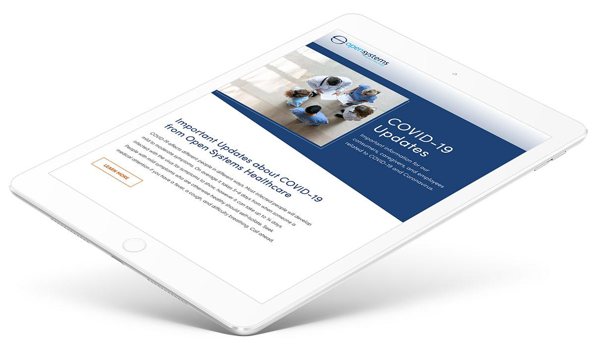 Mobile web design for COVID crisis