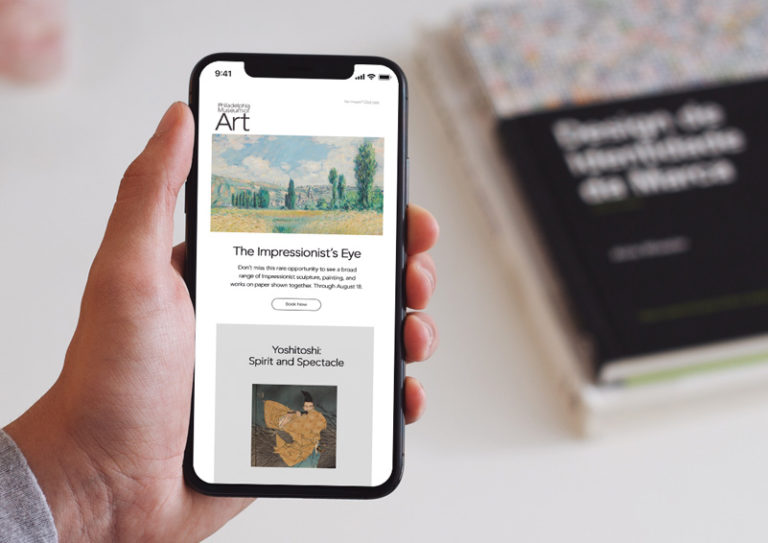 Philadelphia Museum of Art Email Newsletter Design Mobile