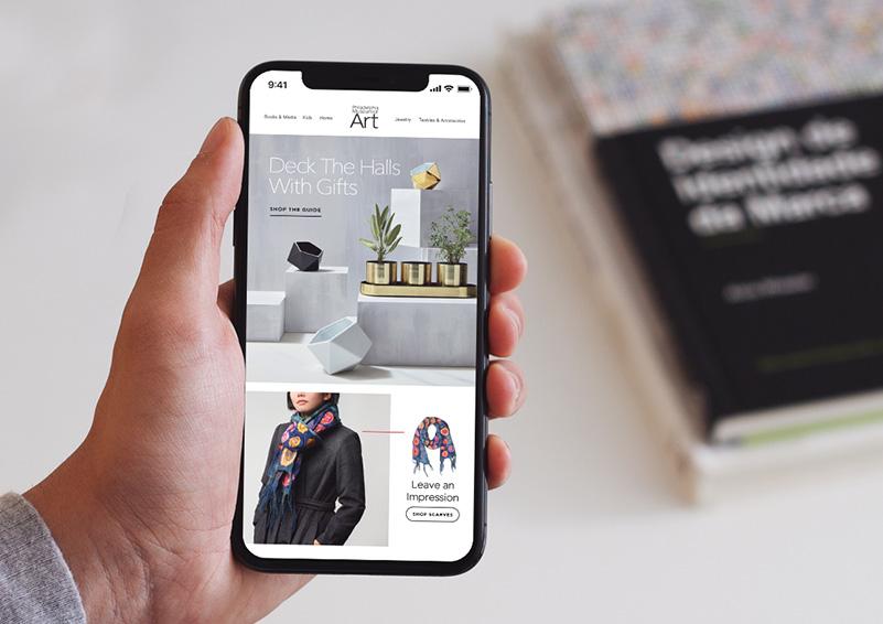 Mobile email newsletter design for Philadelphia Museum of Art