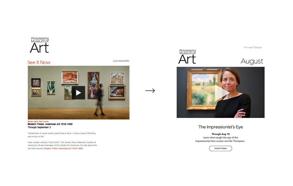 Philadelphia Museum of Art Email Newsletter