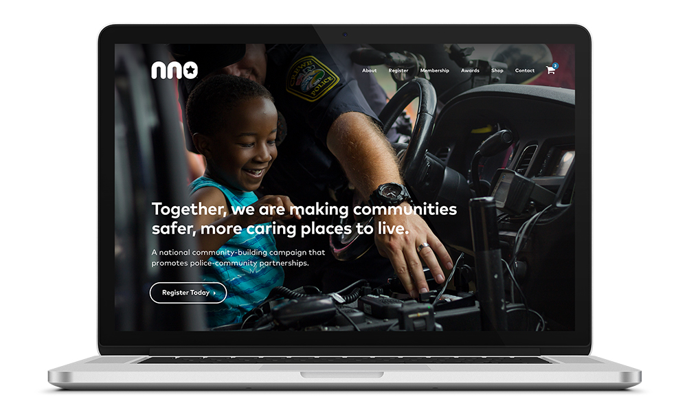 Website design for National Night Out, a Philadelphia area community-building organization