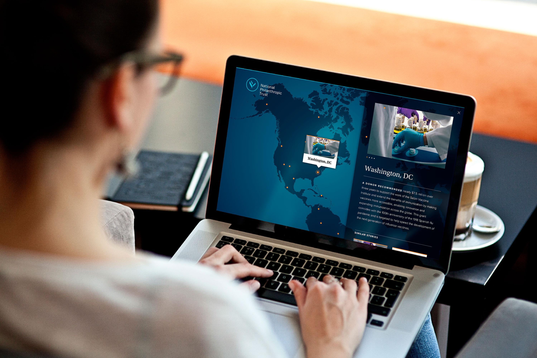 Interactive map design for nonprofit web design