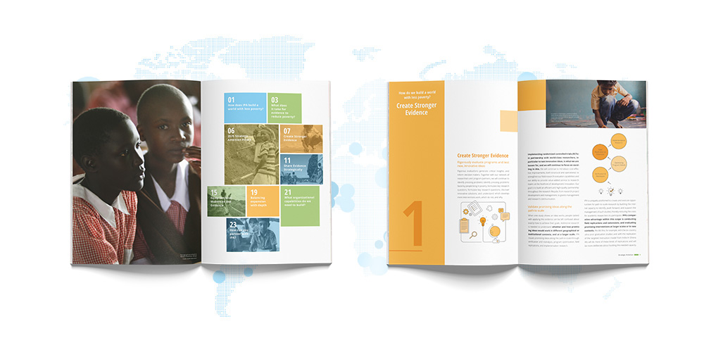 Print brochure design for a nonprofit organization