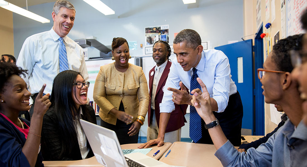 Obama meeting with tech workers, black history month