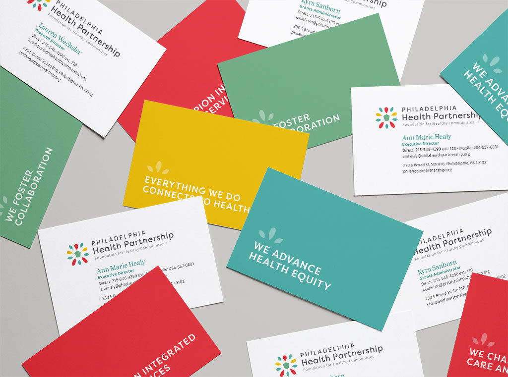 Business Card and Logo Design for Philadelphia Health Partnership
