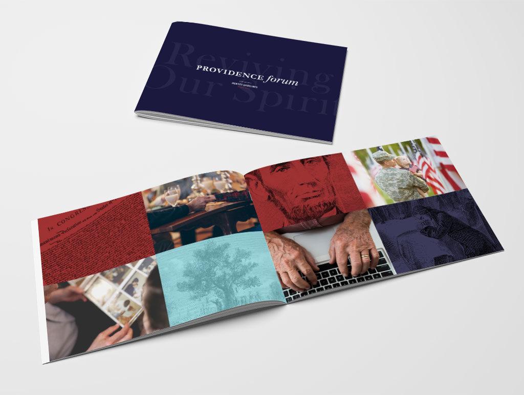 Brand identity design for Providence Forum, a Philadelphia nonprofit