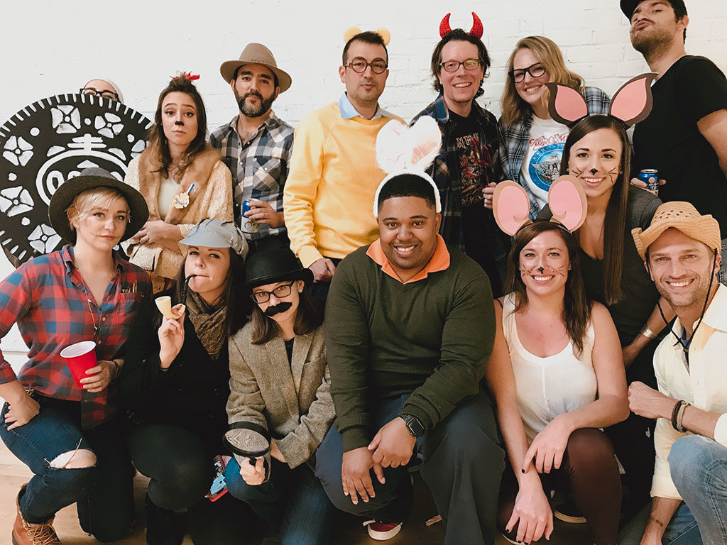 Push10 branding agency halloween party