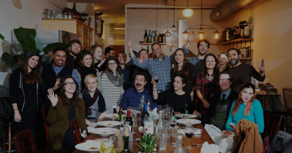Push10 branding agency 2017 holiday party at Balboa Supper Club