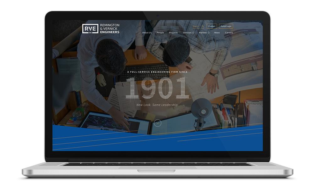 Web design for Remington & Vernick Engineers, a Philadelphia-based engineering firm