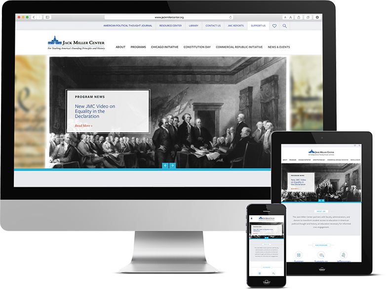 Jack Miller Center Responsive Web Design for all devices by Push10 Design Studios, push10 website design, push10 branding, push10 web design, philadelphia web design, custom illustration, graphic design, jack miller center, jack miller center website, responsive web design