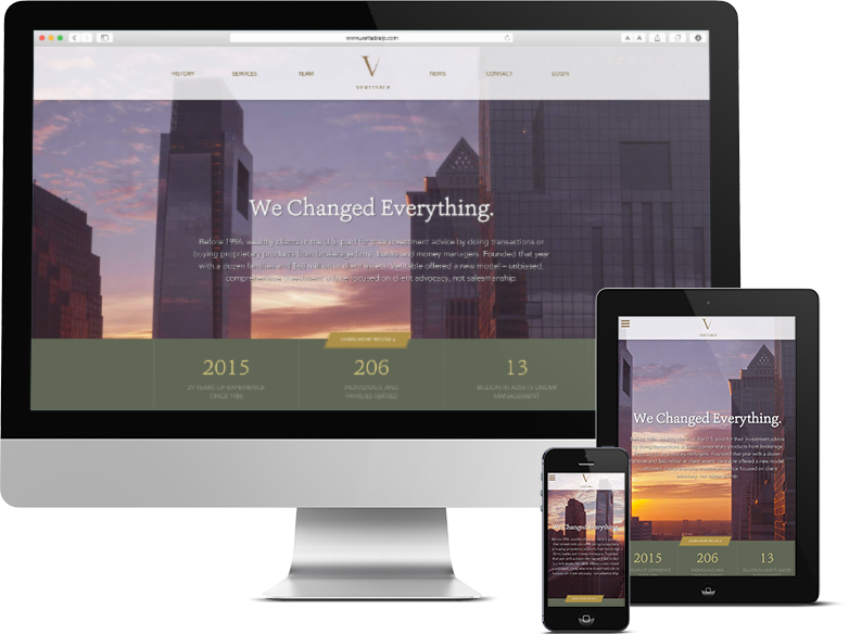 Responsive Web Design for Investment Firm in Philadelphia, veritable, veritable lp, veritable website, veritable web design, push10, philadelphia, finance firm web design, finance website, responsive web design, website design, web development, graphic design, philadelphia branding and web design