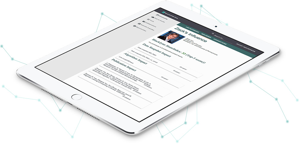 Blackfynn medical research company responsive web design shown on tablet