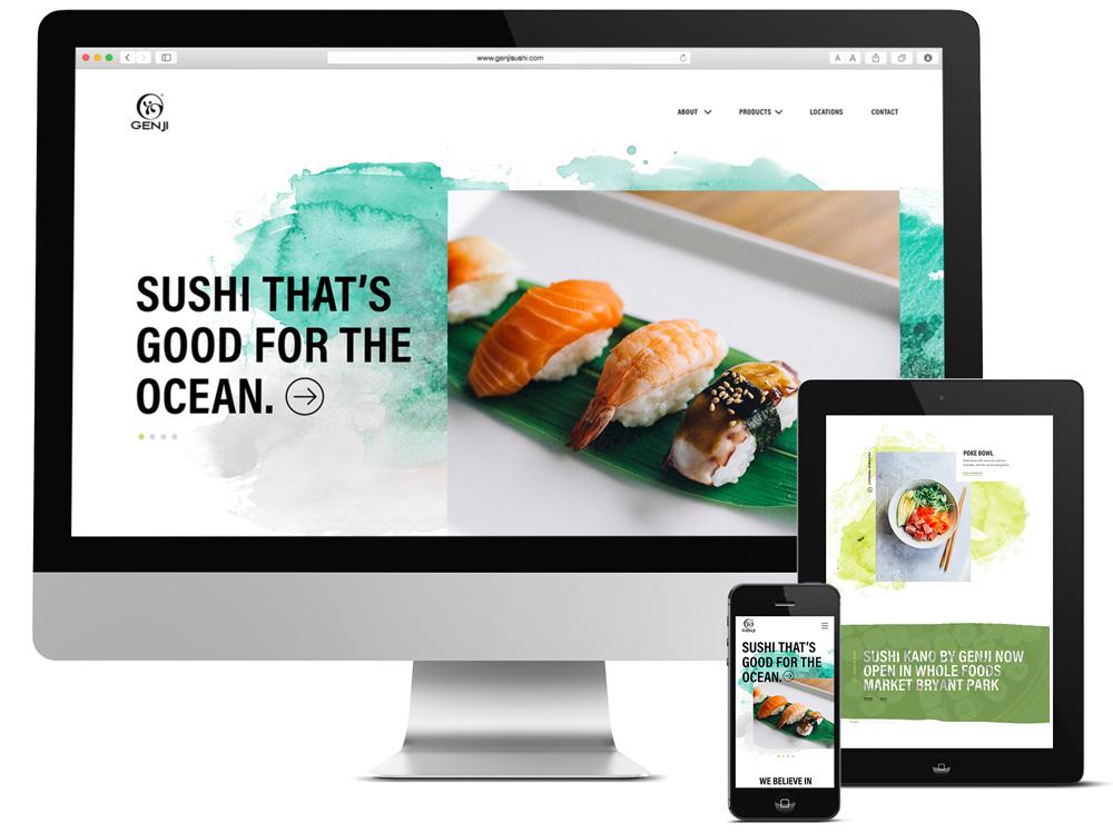 Responsive Web Design for Sushi Brand