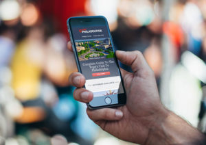Responsive Email Template Design for Visit Philly on Mobile