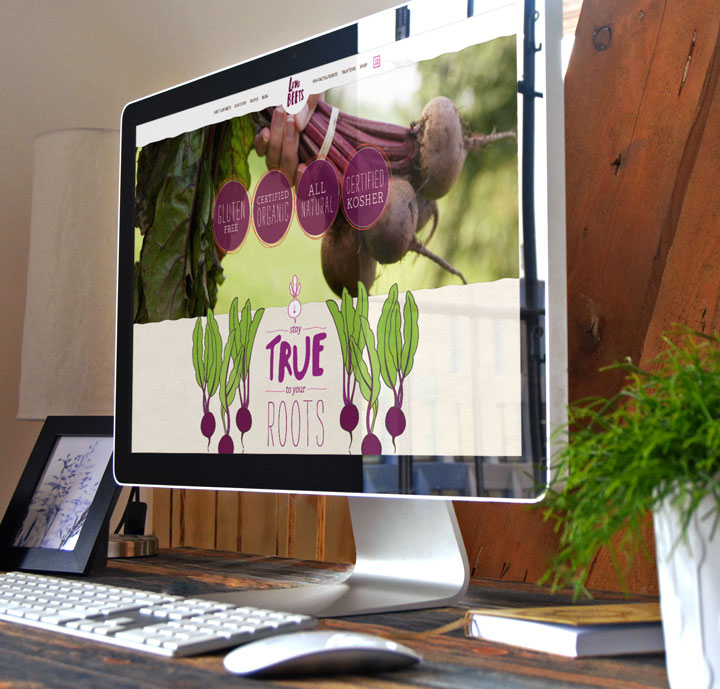 web design for organic food companies