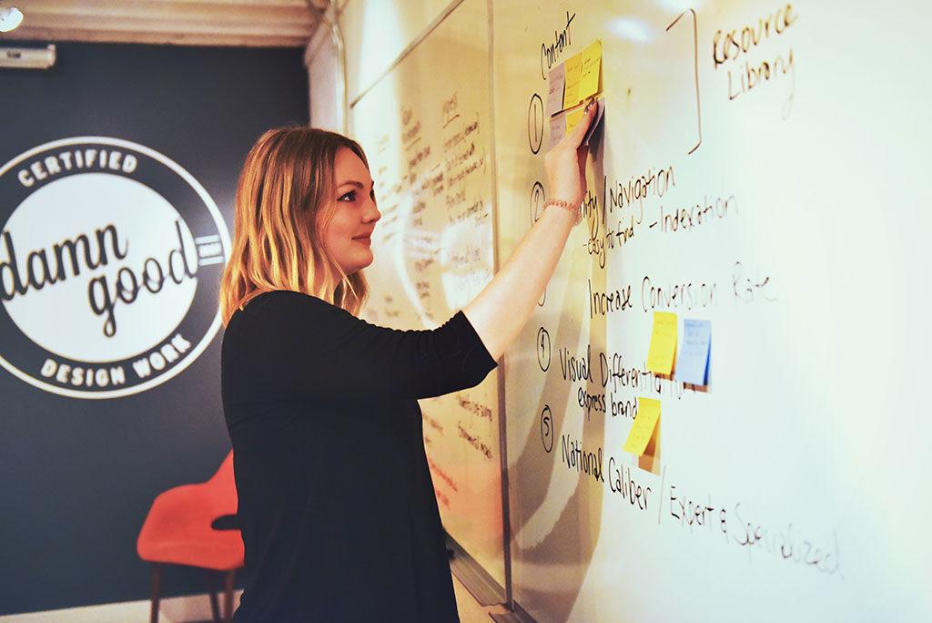 Strategic web design workshop led by Caroline Noebels, Push10 Web Designer