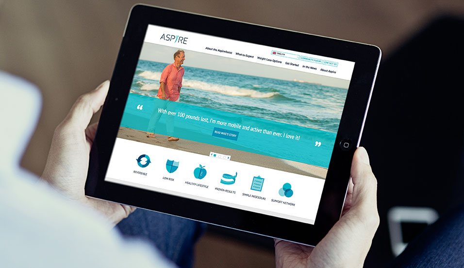 Responsive Website Banner Image on iPad Tablet, aspire, aspire website, web design, hero images, responsive web design, push10