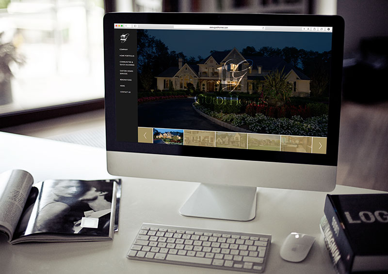 Responsive Web Design for Philadelphia Construction Company, guidi homes, guidi, guidi website, push10, push10 web development, responsive web design