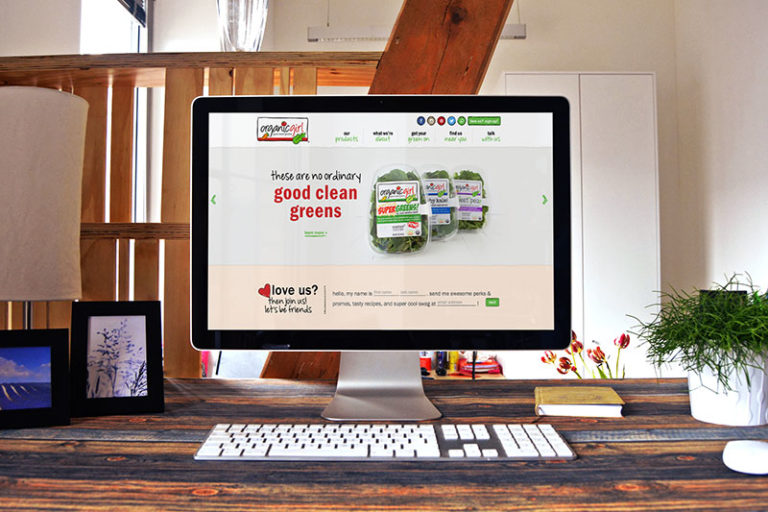 Web Design for Natural Foods Company in California, Package Design for California Organic Food Processing Company, Organicgirl, organicgirl site, push10, natural food web deisgn, organic food website, branding, web development, custom photography, natural food website