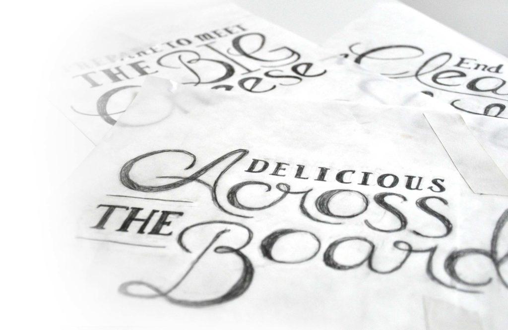 Custom Illustration, Push10, Push10 Design, Philadelphia, Delicious, Beautiful Text, Typography