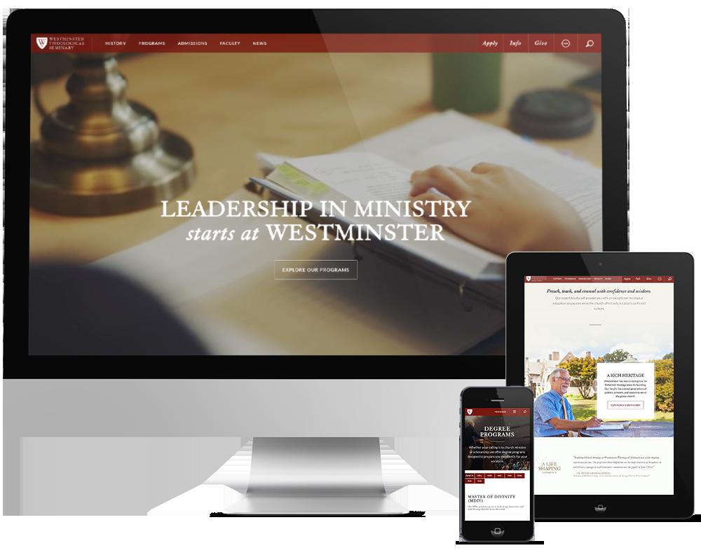 westminster, westminster reponsive web design, push10 web design, ux design