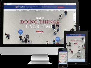 Responsive Web Design for Philadelphia Higher Education, wharton, web design process, web design, push10, web development, strategy