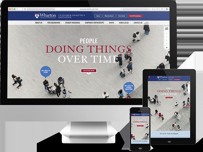 Responsive Web Design for Philadelphia Higher Education, wharton, web design process, web design, push10, web development, strategy, Wharton Customer Analytics Initiative, Wharton, Web design, website design philadelphia, push10, responsive web design