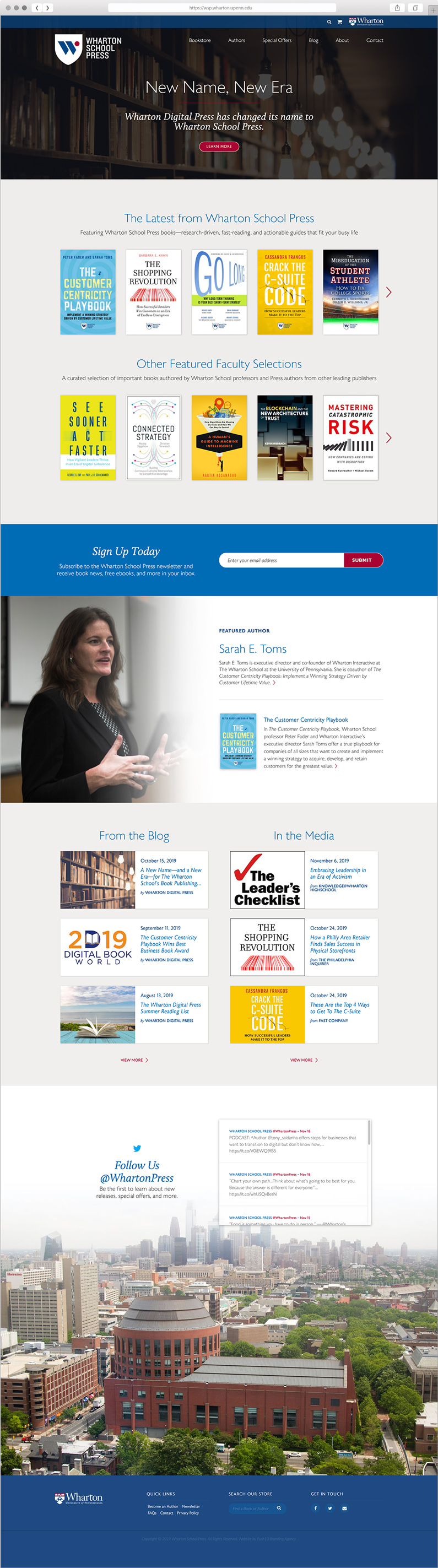 Website user interface design for The Wharton School of the University of Pennsylvania